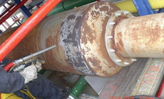 Removing rust from chemical equipment